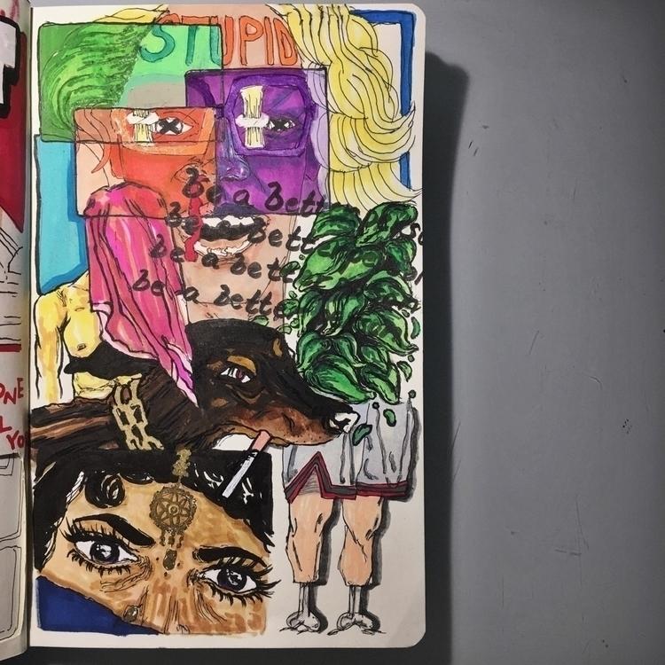 person - artwork, art, canvas, mixedmedia - drugquests | ello