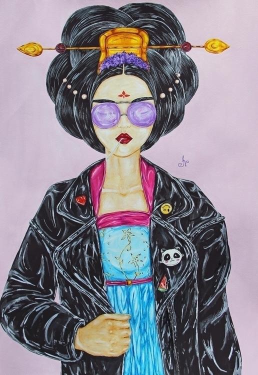 Princess China - art, illustration - 13ladyn | ello