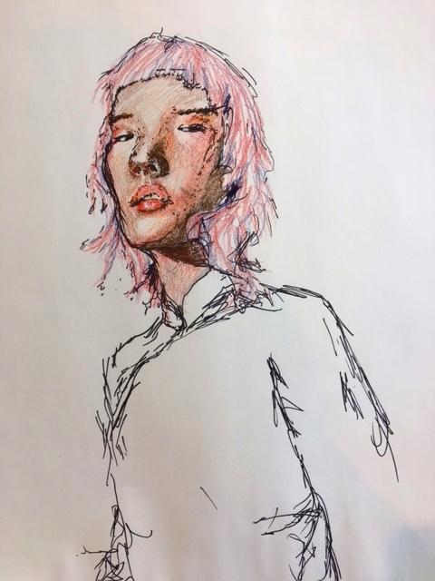 april. worked colored pencil di - elliewril3y | ello