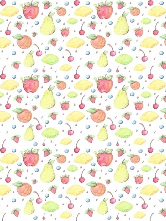 fruit themed pattern painted wa - svaeth | ello