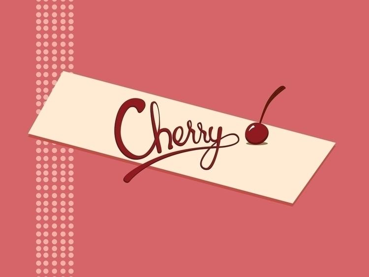 cherry lettering piece created  - svaeth | ello