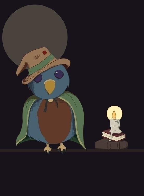 wizard bird created Adobe Illus - svaeth | ello