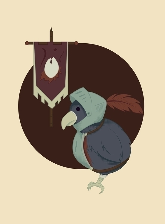 warrior bird created Adobe Illu - svaeth | ello