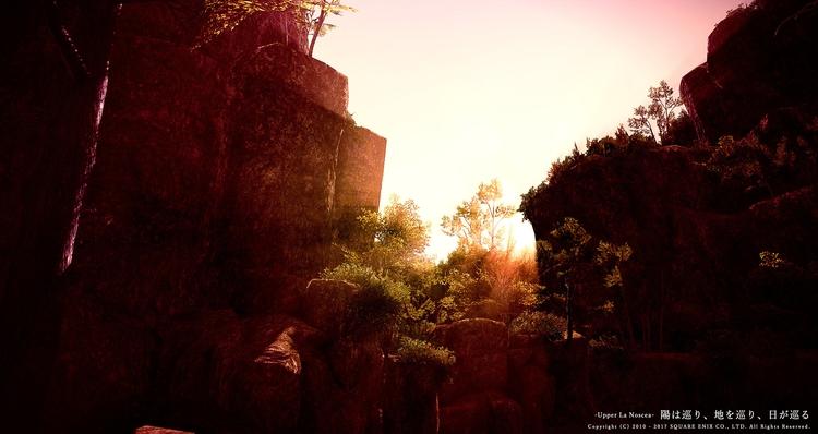 陽は巡り、地を巡り、日が巡る 高地ラノシア - 愚か者の滝 よ - flcvs | ello