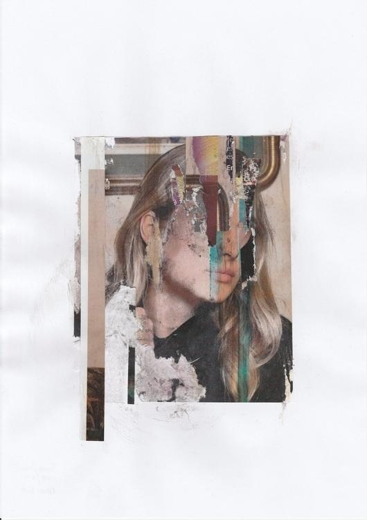 Jacqueline - Handmade collage - portrait - manuduf | ello