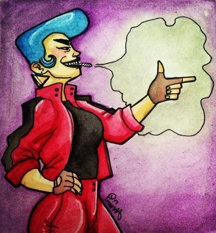 original character Ghost cool - watercolor - pomposlantern | ello
