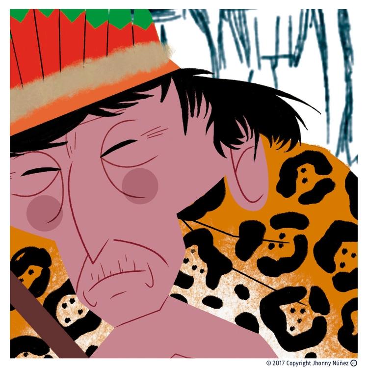 Shaman progress - JhonnyNúñez, illustration - dblackhand | ello