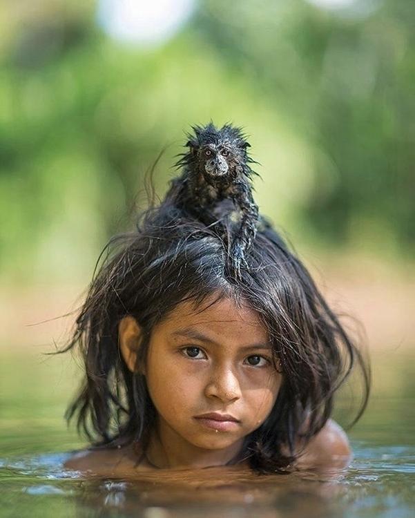 Stunning Girl Tamarin Portrait  - decorkiki | ello