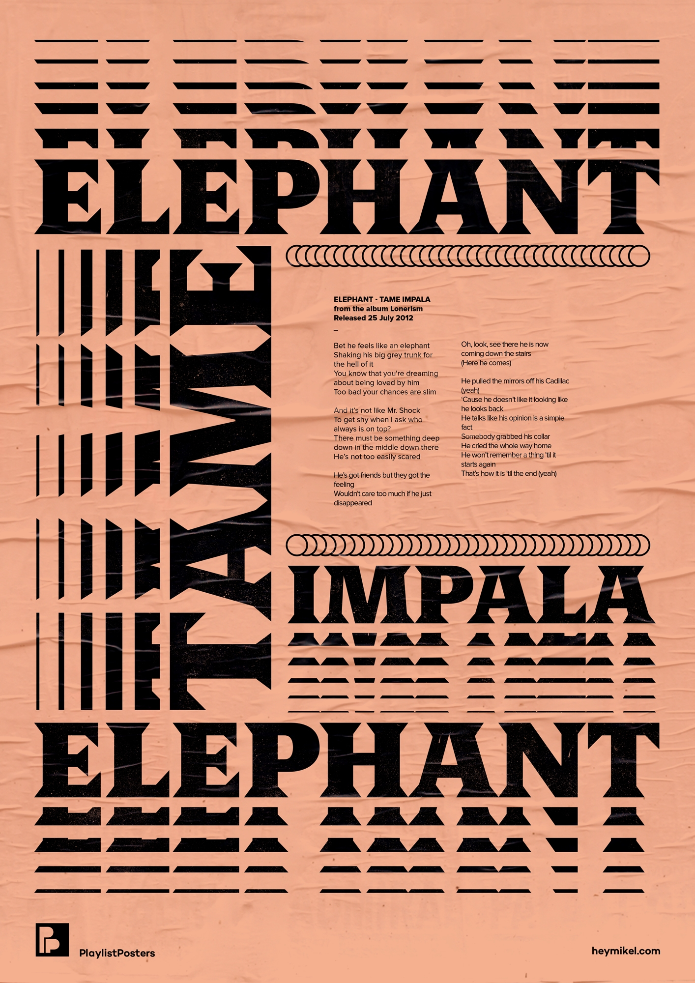 Playlist-posters // Tame Impala - heymikel | ello