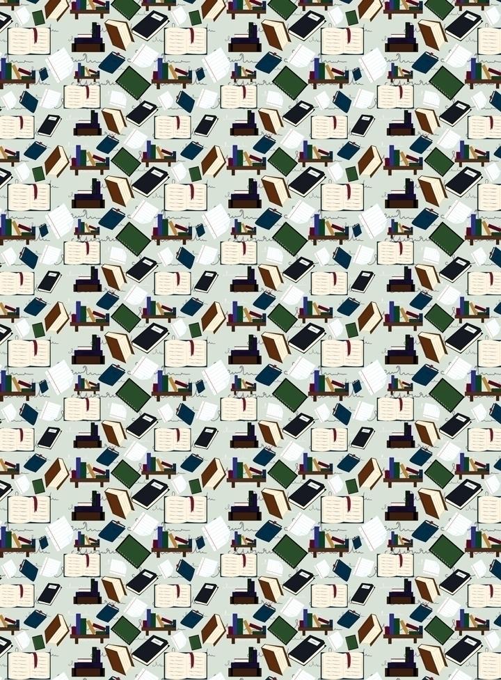 book themed pattern designed Ad - svaeth | ello