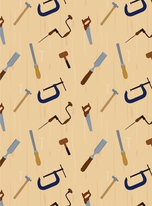 wood shop themed pattern design - svaeth | ello