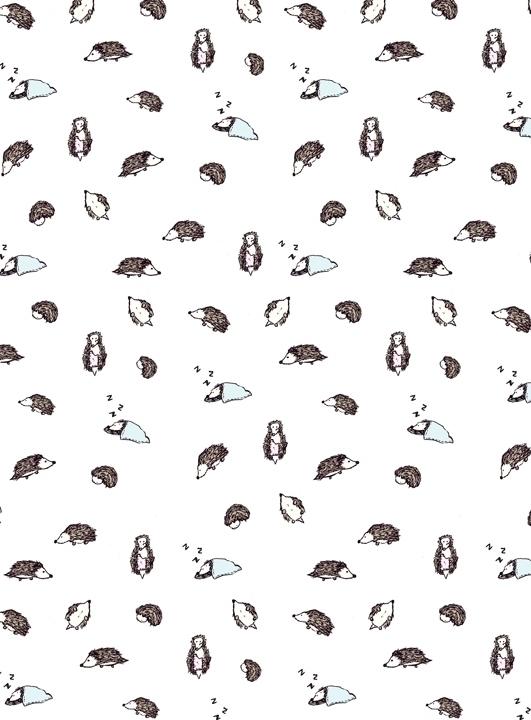 hedgehog themed pattern. drawn  - svaeth | ello
