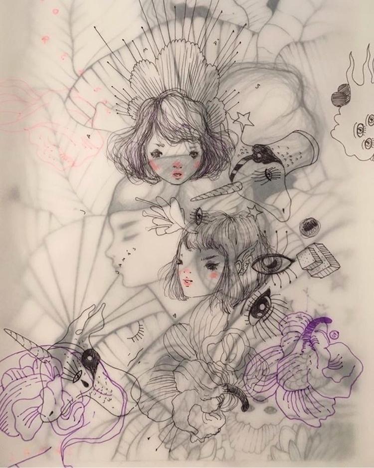 WIP artist Violeta showing Pari - helliongallery | ello