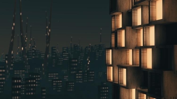 3d rendering futuristic city ni - cansik | ello