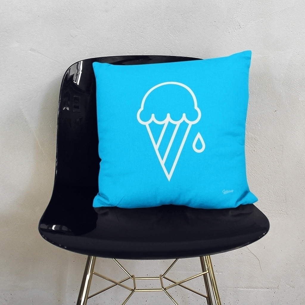 Blue Ice-cream (Cushion) Ice Cr - solehab | ello