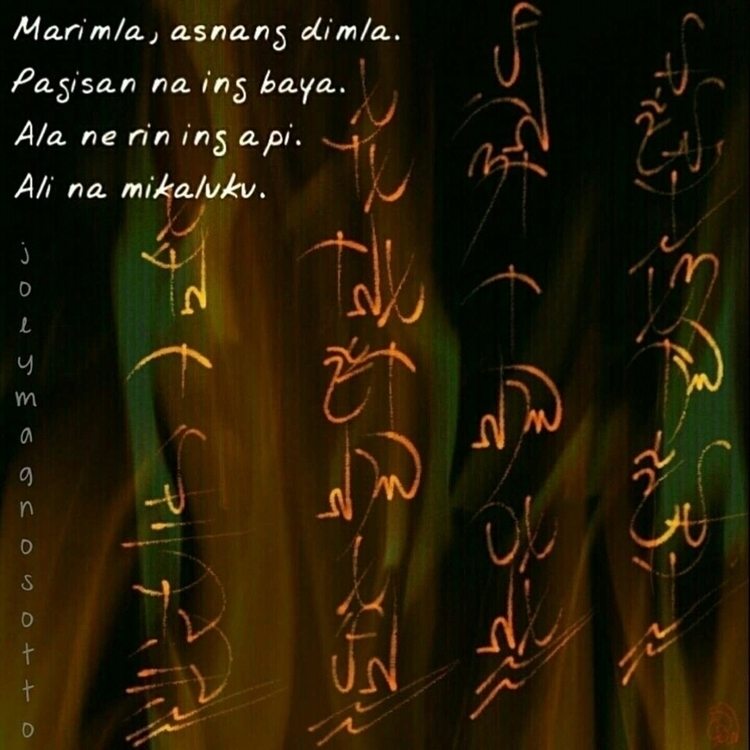 Original Kapampangan Tanaga wri - jmagnosotto   ello
