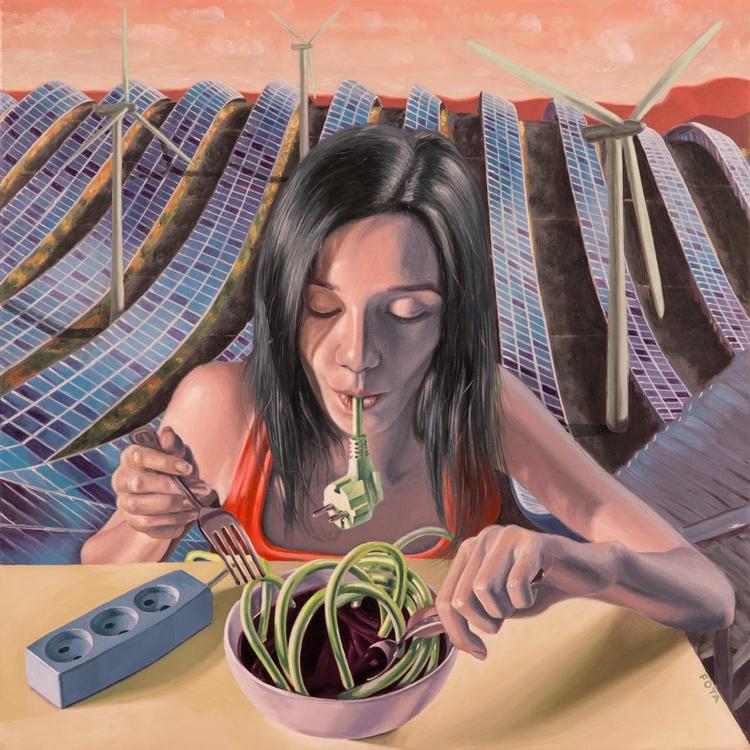 Green Appetite Oil canvas, 30x3 - victorfota | ello
