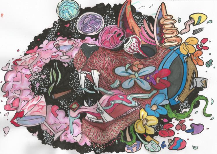 Chester - artwork, art, canvas, mixedmedia - drugquests | ello