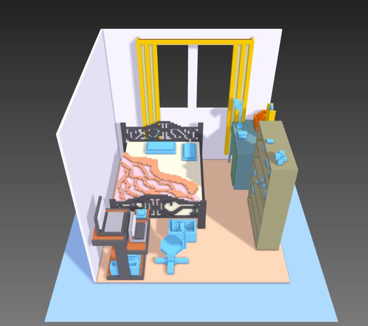 Room'. MagicaVoxel - 3d, magicavoxel - tng-1317 | ello