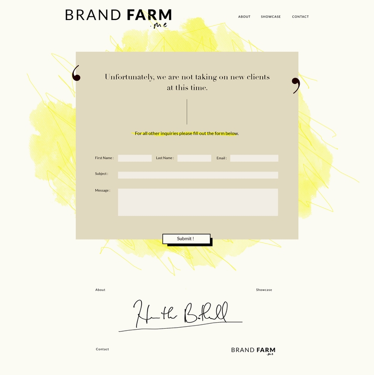 Brand farm website design. Orig - cubey_studio | ello