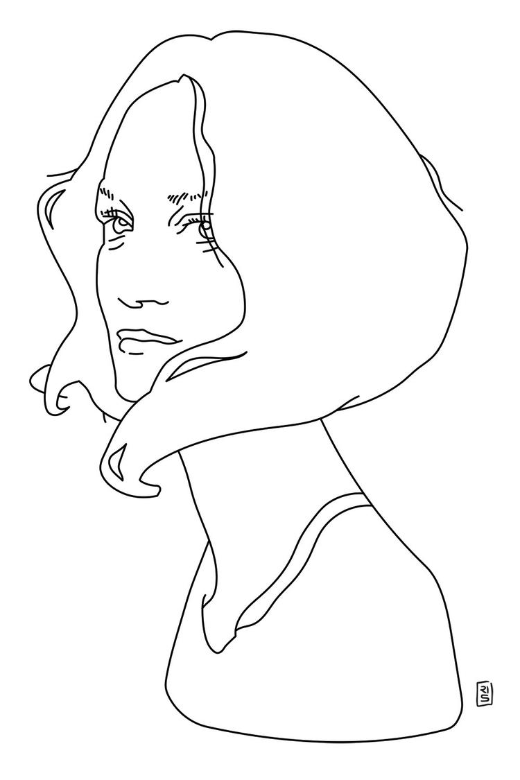 Natalia Wörner - illustration, drawing - rivasinge | ello