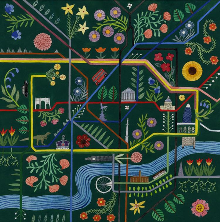map London Underground 'Hand Dr - helencann | ello