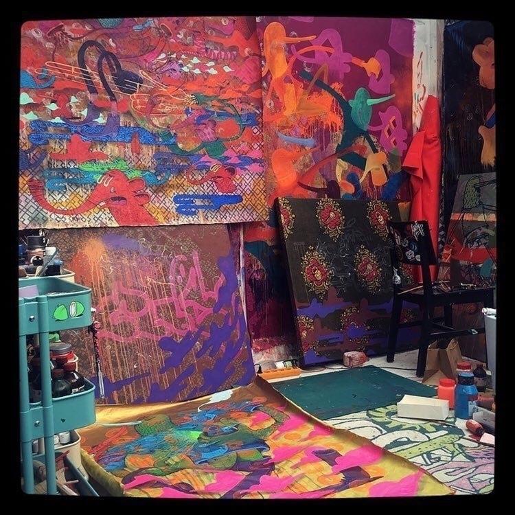 artist studio shot - talltreesofparis - helliongallery | ello