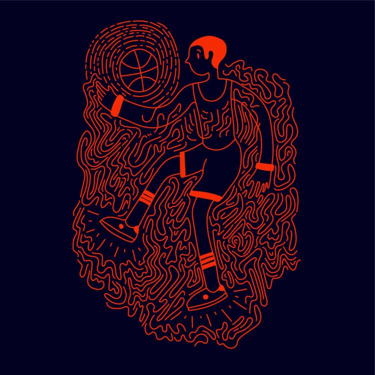 Jumpman - illustration, illustrator - heybop   ello
