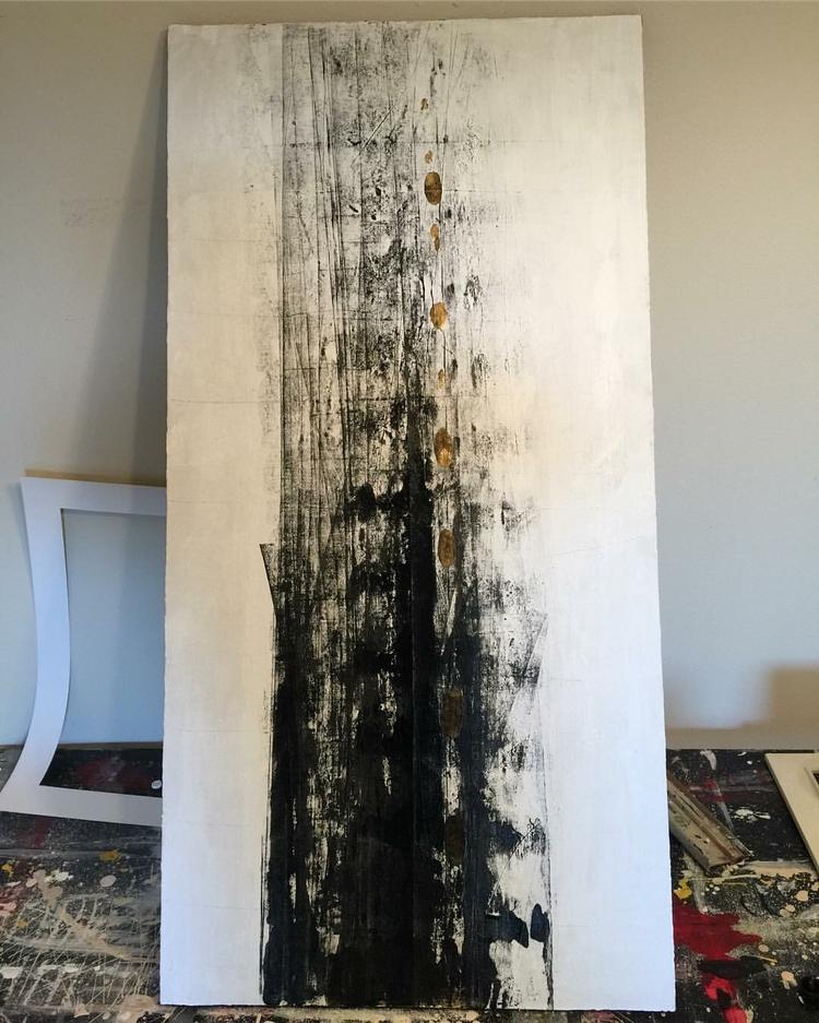 beast acrylic canvas 24x48 - leoartdelta9 | ello