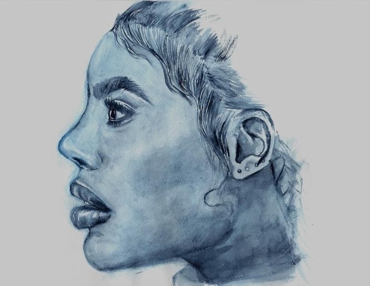 gaze (watercolor watercolor pap - ayesharawal   ello