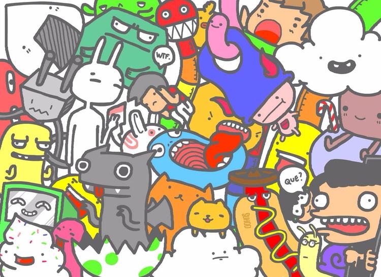 step 2- life bit colorful - doodle - suhodmutalib | ello