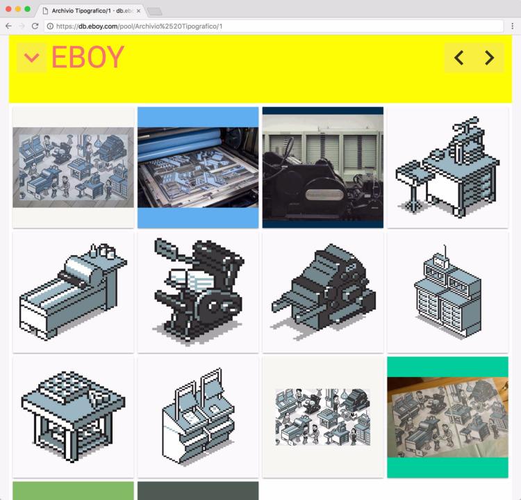 Archivio Tipografico - eboydb - eboy | ello
