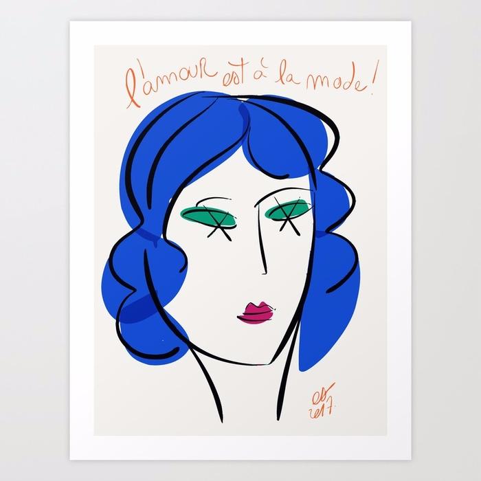 est à la mode - art, french, minimal - signorino | ello