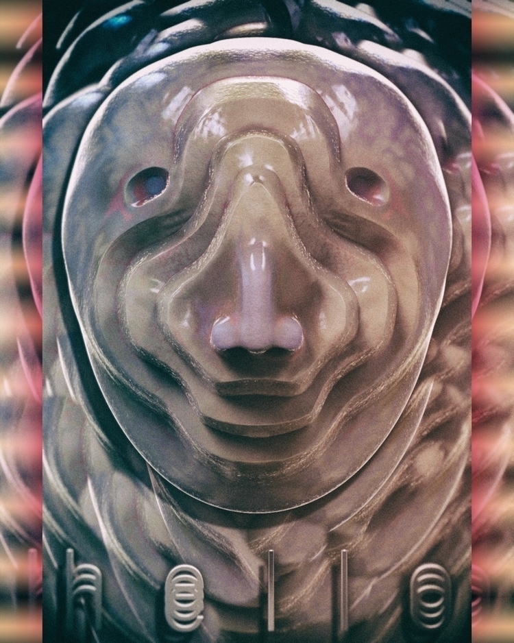 3D, mask, totem, zbrush, keyshot - frank_yunker   ello