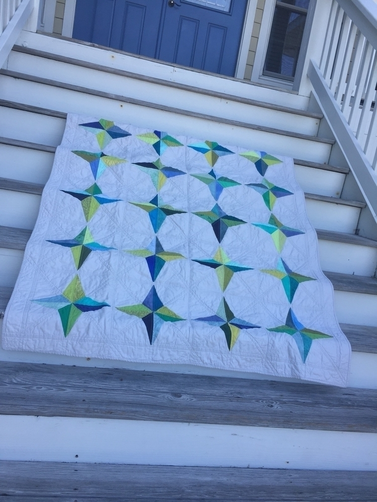 Wedding quilt. Pattern Mingle - modernheritagequilts - quiltmoderne | ello