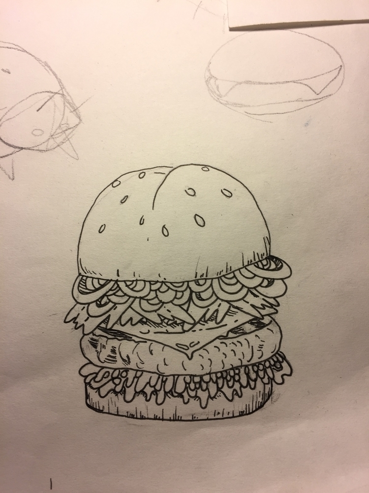 Dreaming burger buns - mikstache | ello