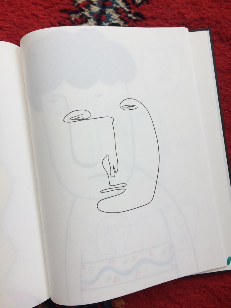 Face - illustration, pen, ink, skecthbook - mitsubishiufjfinancial | ello