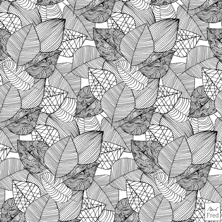 today leaves … no59 - pattern, leavespattern - mister_fred_berlin | ello