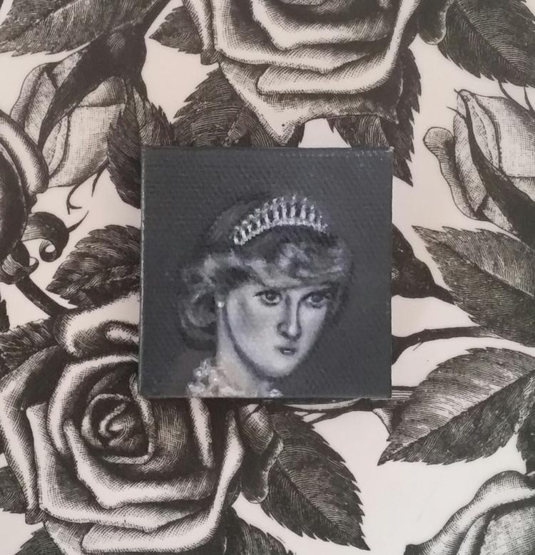 Mini portrait Princess Diana  - princess#love#royalty#heart - nora_   ello