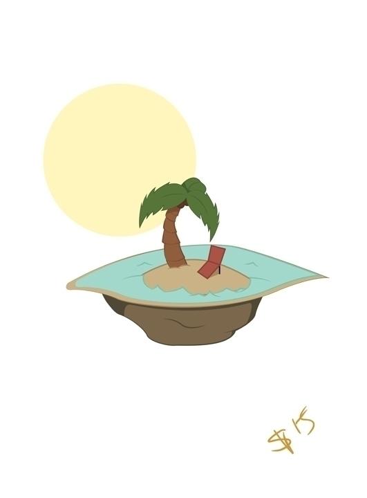 floating beach island created A - svaeth | ello