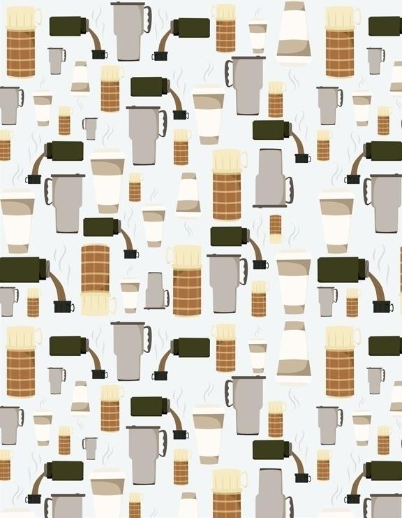 thermos mug based pattern desig - svaeth   ello