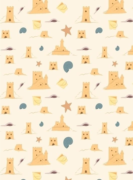sandcastle themed pattern desig - svaeth | ello