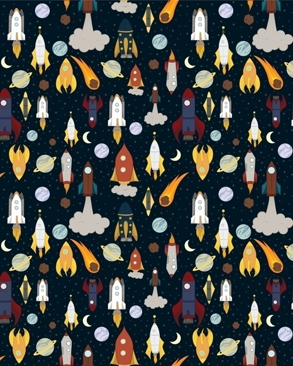 rocket themed pattern designed  - svaeth | ello