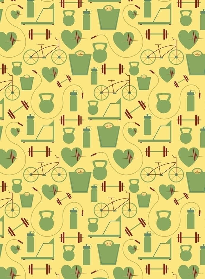 fitness themed pattern designed - svaeth | ello