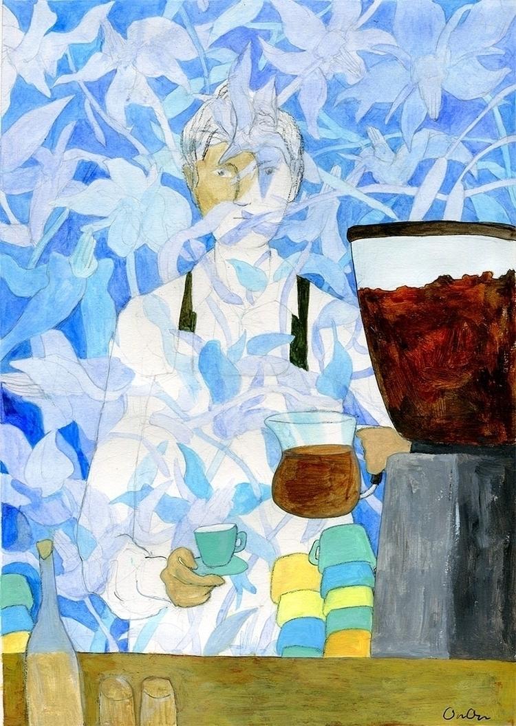 painting, illustration, coffee - ononlao | ello