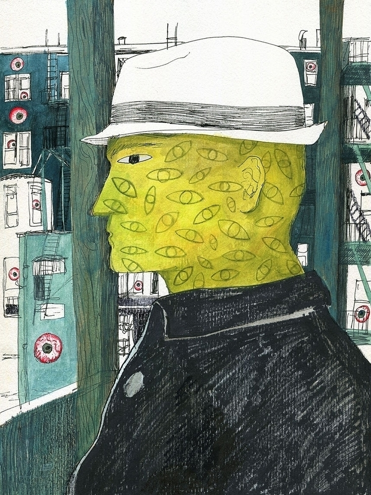 illustration, drawing, acrylicpaint - ononlao | ello