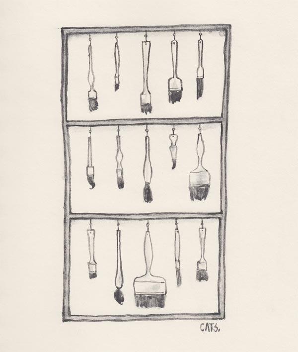order - watercolour, graphite, sliceoflife - catsac   ello