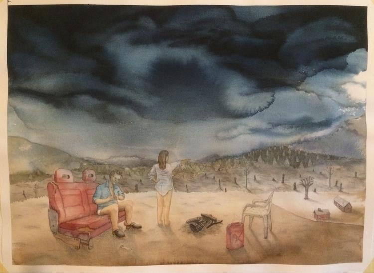 View 55x75cm watercolor charcoa - tlrgrd | ello