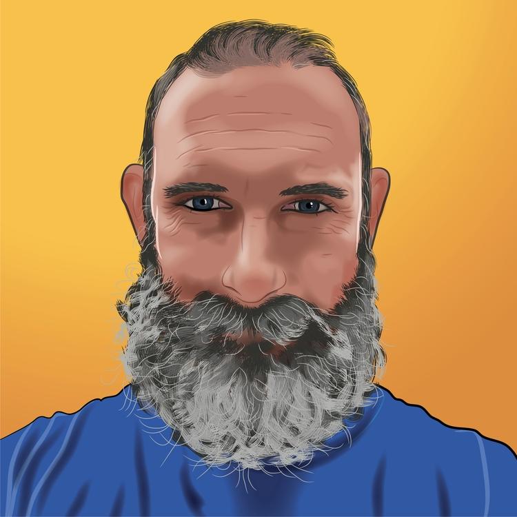 portrait, adobeillustrator, vector - corneldraghia | ello