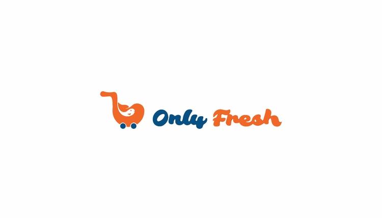 fresh branding - fish, cart, logo - fahadpgd | ello